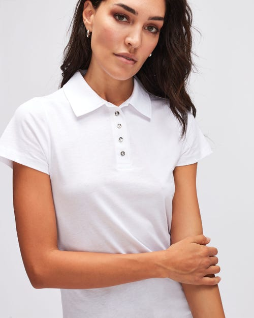 POLO JERSEY W/EMBROIDERY WHITE