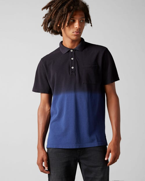 7 For All Mankind - Polo S/S Piquet Fade Navy Blue