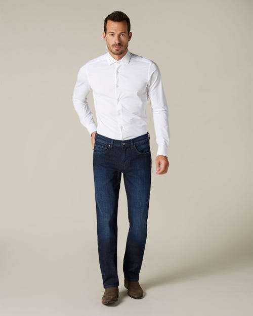 SLIMMY CASHMERE DENIM DARK BLUE