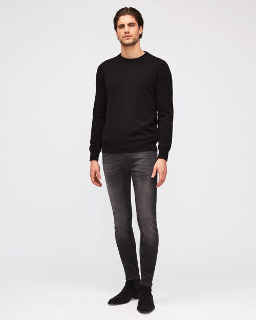 RONNIE TAPERED LUXE PERFORMANCE PLUS WASHED BLACK