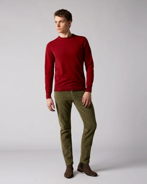 7 For All Mankind - Slimmy Tapered Corduroy Color Light Hunter