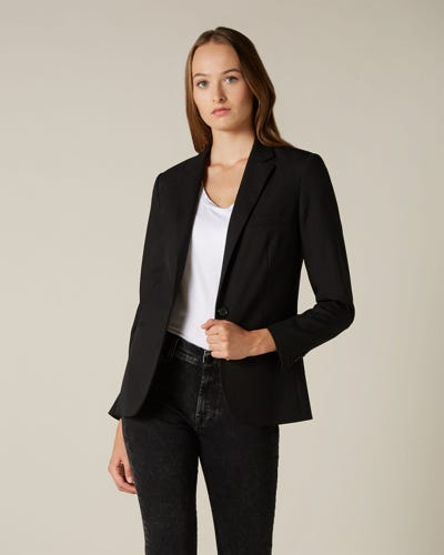 SB NOTCH COLLAR CLASSIC BLAZER BLACK