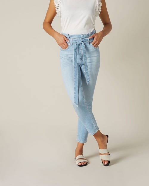 SLIM PAPERBAG PANT LEFT HAND COAST