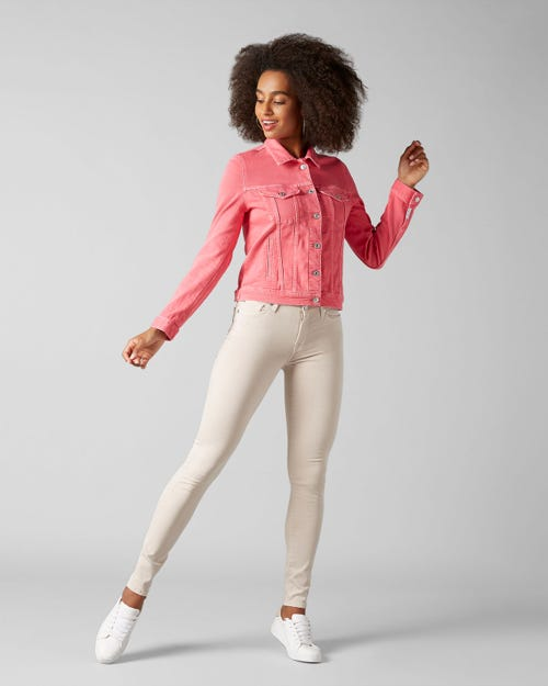 7 For All Mankind - Modern Trucker Colored Hot Pink