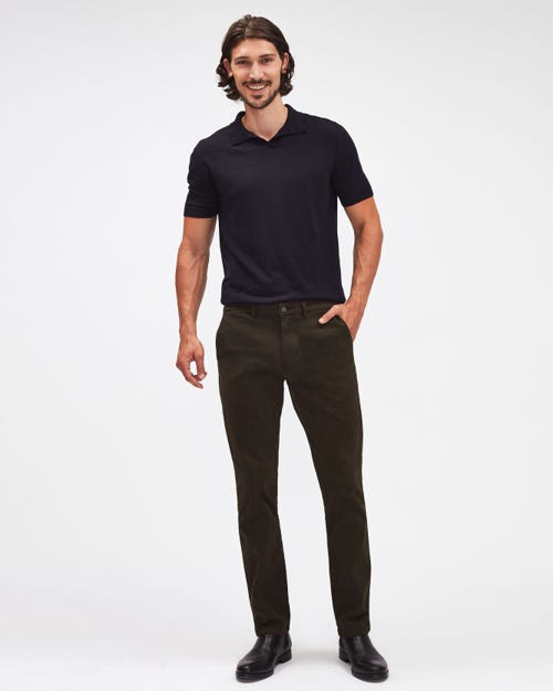 SLIMMY CHINO LUXE PERFORMANCE SATEEN FOREST NIGHT