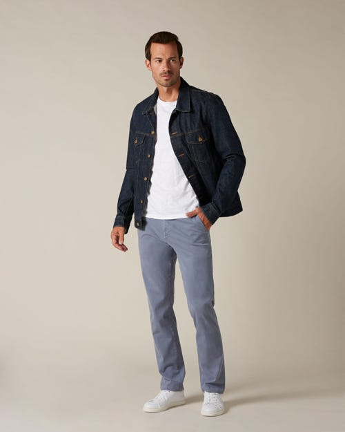 SLIMMY CHINO LUXE PERFORMANCE SATEEN LIGHT BLUE