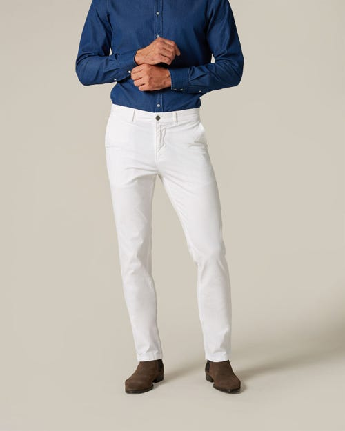 SLIMMY CHINO WEIGHTLESS COLORS WHITE