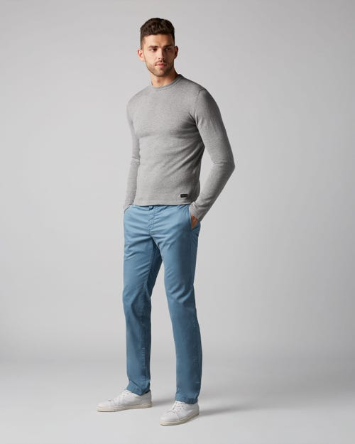 7 For All Mankind - Extra Slim Chino Light Weight Sky Blue