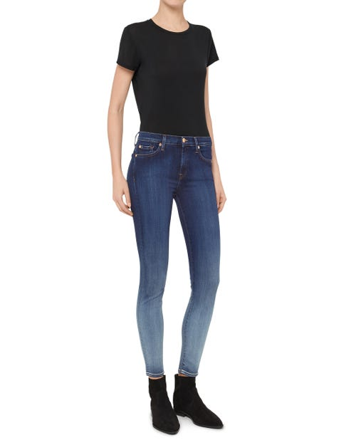 THE SKINNY CROP SLIM ILLUSION LUXE FADED BLUE