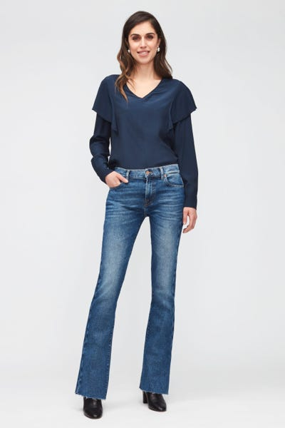 BOOTCUT LUXE VINTAGE REJOICE WITH RAW CUT
