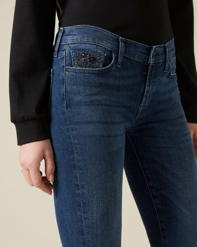 THE SKINNY SLIM ILLUSION PERSUIT WITH EMBELLISHED WATCH POCKET