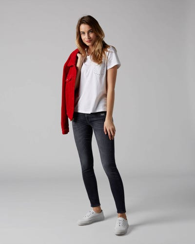 7 For All Mankind - The Skinny Slim Illusion Honest Distressed