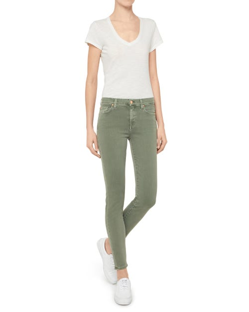 THE SKINNY SLIM ILLUSION COLOR GREEN EMBELLISHED