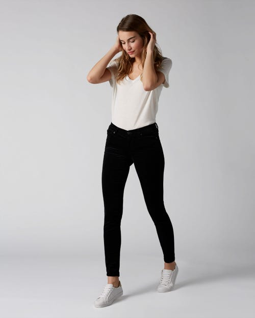 7 For All Mankind - The Skinny Velvet Black