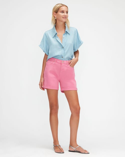 BOY SHORTS COLORED TWILL  WILDBERRY