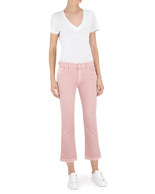 CROPPED BOOT UNROLLED COLOR SLIM ILLUSION PINK