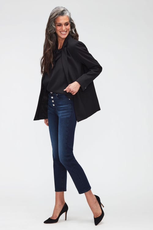 THE STRAIGHT CROP B(AIR) PARK AVENUE  WITH EXPOSED BUTTONS