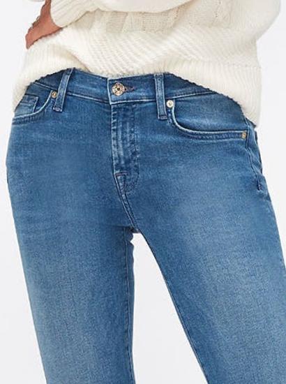 7 For all Mankind - Jeans, Spijkerjassen en Kleding, Uitlopende Broek met hoge taille, Skinny jeans met hoge taille, Skinny jeans met middelhoge taille, Slim Jeans met middelhoge taille, Straight Jeans met middelhoge taille, Bootcut Jeans met middelhoge t